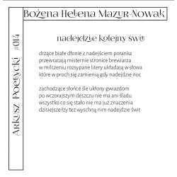 Bezkres NR 15 - październik 2020 wkładka literacka